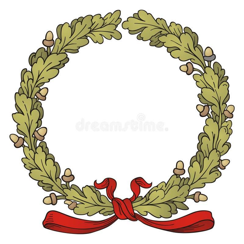 Oak Wreath Stock Images