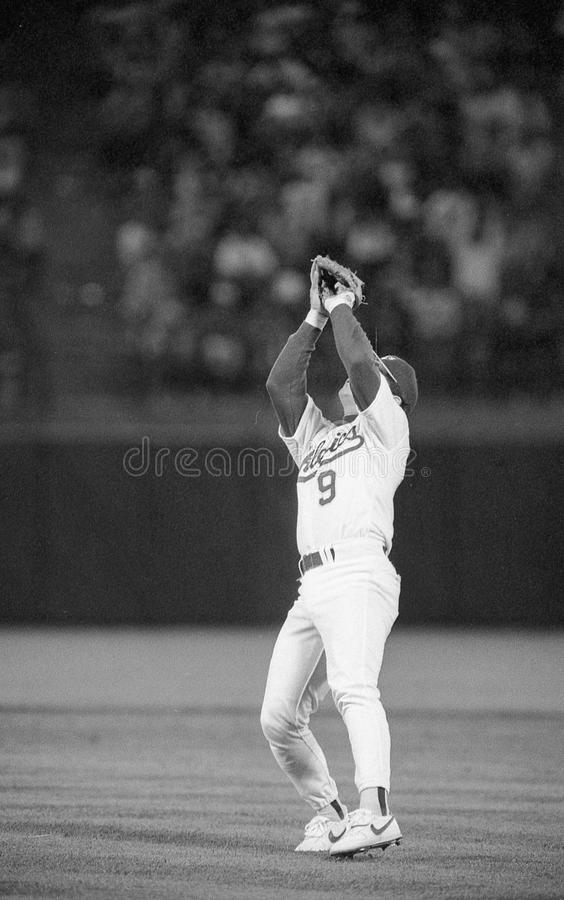 Oakland Athletics drugi bazowy Mike Gallego -9 fotografia royalty free