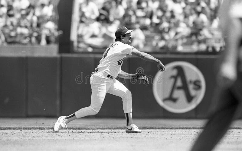 Oakland Athletics infielder Fred Manrique στοκ εικόνες με δικαίωμα ελεύθερης χρήσης