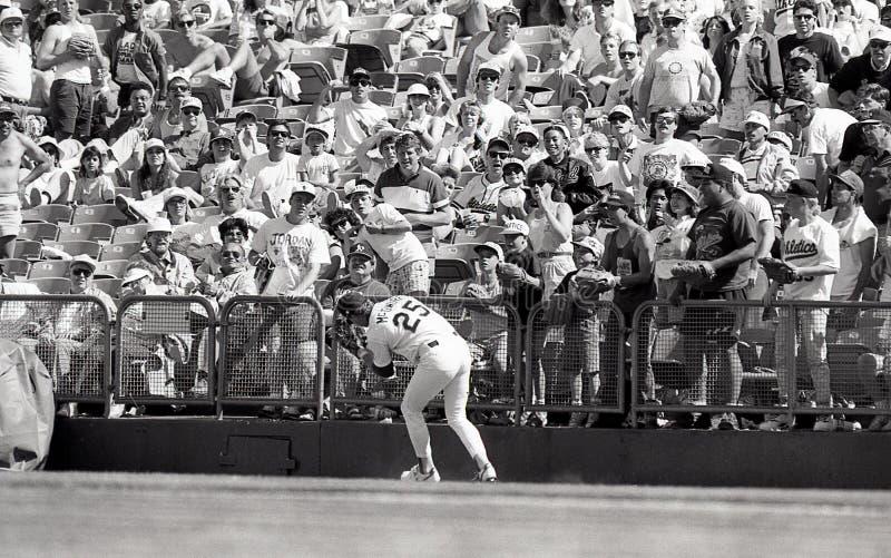 Oakland Athletics pierwszy bazowy Mark McGwire obraz royalty free