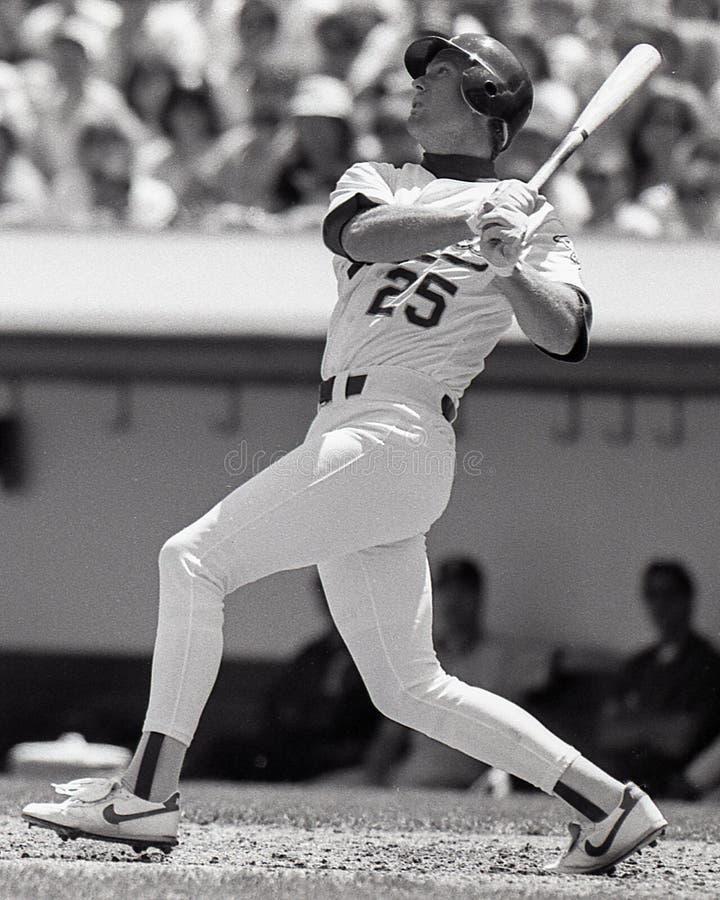 Oakland Athletics pierwszy bazowy Mark McGwire fotografia royalty free