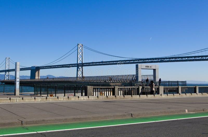 Oakland bro, San Francisco, Kalifornien, Förenta staterna royaltyfria bilder
