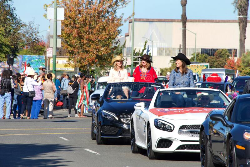 45th annual Black Cowboy Parade and Festival in Oakland, CA stock photo