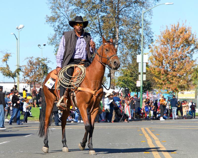 45th annual Black Cowboy Parade and Festival in Oakland, CA royalty free stock image