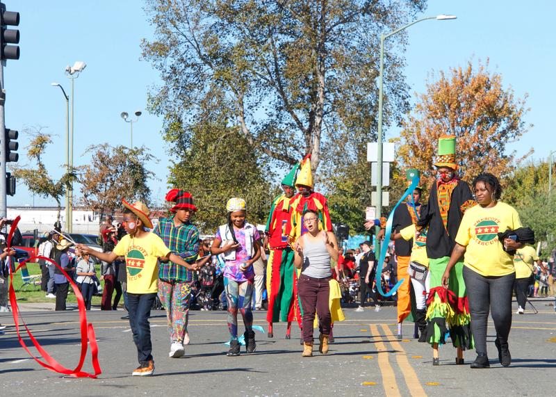45th annual Black Cowboy Parade and Festival in Oakland, CA stock photography