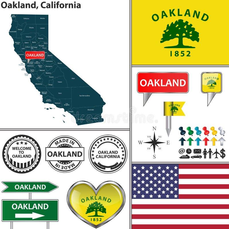 Oakland, Califórnia ilustração royalty free