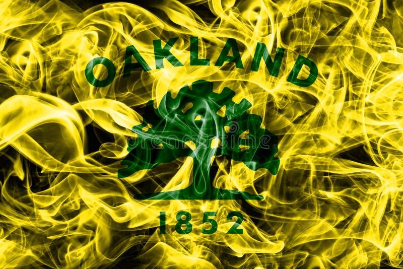 Oakland miasta dymu flaga, Kalifornia stan, Stany Zjednoczone Amer zdjęcie royalty free