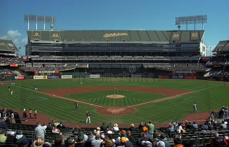 Oakland A's Coliseum Baseball Stadium royalty free stock images