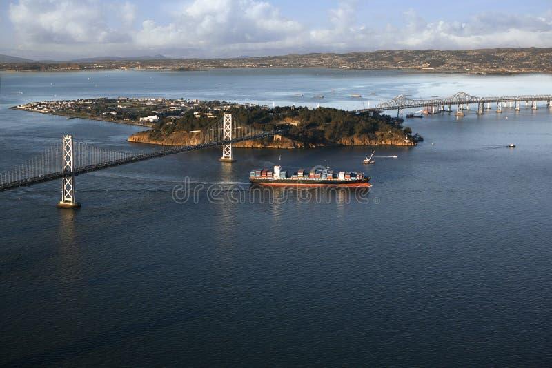 Oakland San Francisco Bay Bridge royalty free stock images