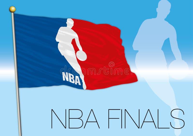 OAKLAND, VERENIGDE STATEN, JUNI 2017 - NBA-def. 2017, vlag van NBA vector illustratie
