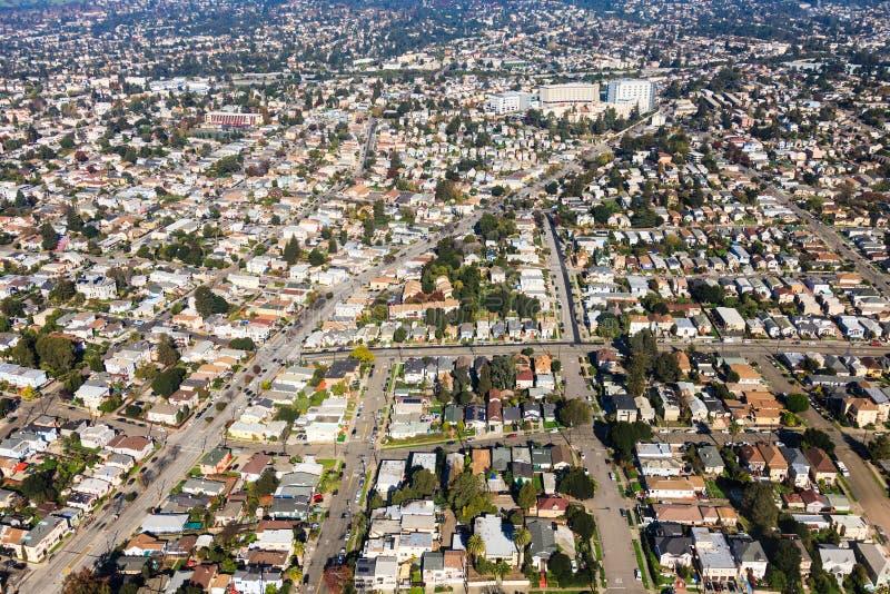 Oakland-Vogelperspektive lizenzfreie stockbilder
