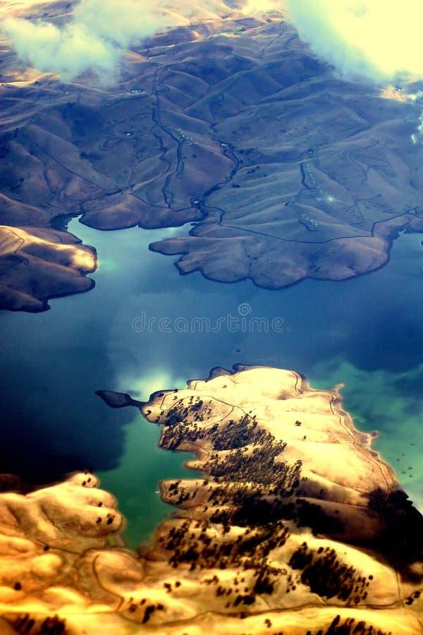 Download Oakland von der Luft stockfoto. Bild von eingänge, genommen - 40040
