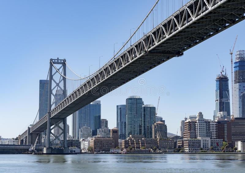 Oakland zatoki most obraz stock