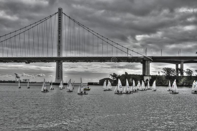 Oakland zatoki most Kalifornia Feb 2019 obraz stock