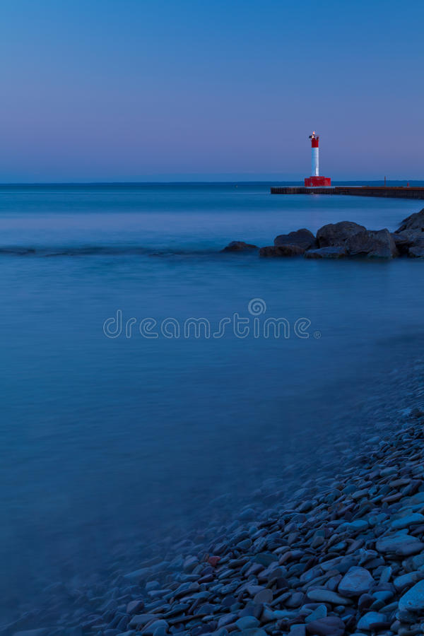 Download Oakville Lighthouse Evening Light Stock Image - Image: 24015543