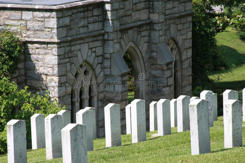 Oakwood Cemetery Confederate Dead from Gettysburg stock photo
