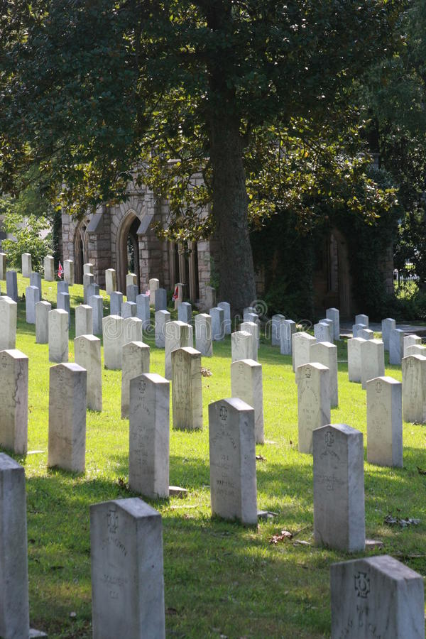 Oakwood Cemetery Confederate Dead from Gettysburg stock images