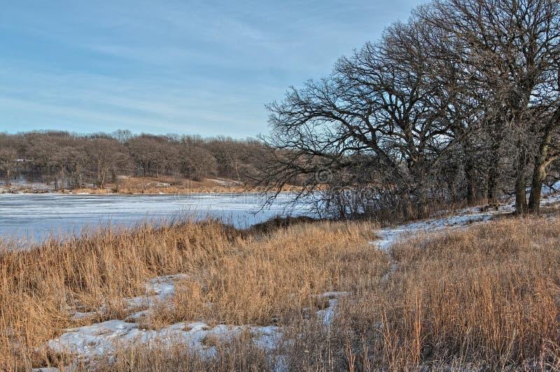 Oakwood jezior stanu park jest w stanie Południowy Dakota blisko Brookings zdjęcie royalty free
