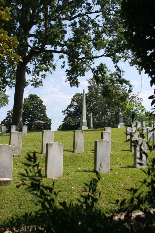 Oakwoodkyrkogårdförbundsmedlem som är död från Gettysburg royaltyfria bilder