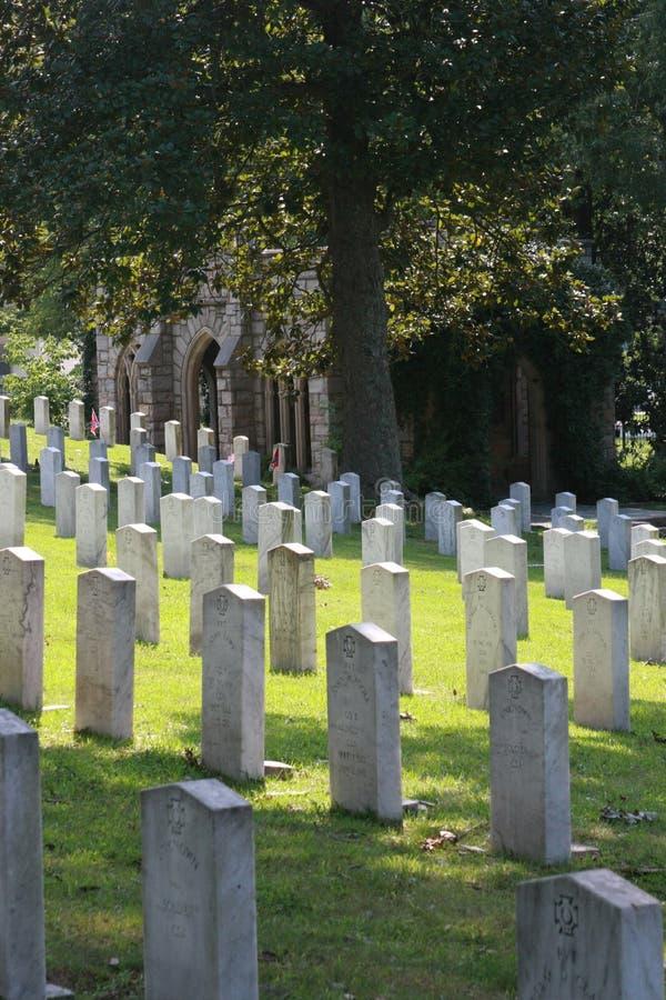 Oakwoodkyrkogårdförbundsmedlem som är död från Gettysburg arkivbilder
