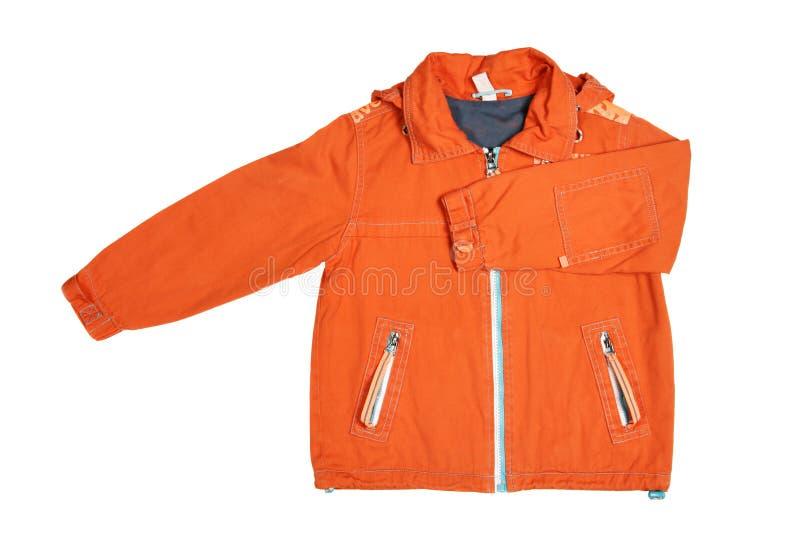 Oange jacket royalty free stock photography