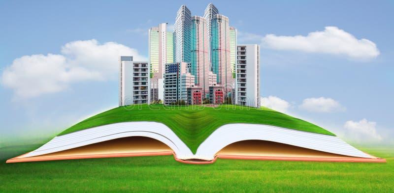 Oapartment astratto, architettonico, architettura, libro, costruzione, affare, concetto, condominio, costruzione, progettazione, d fotografia stock