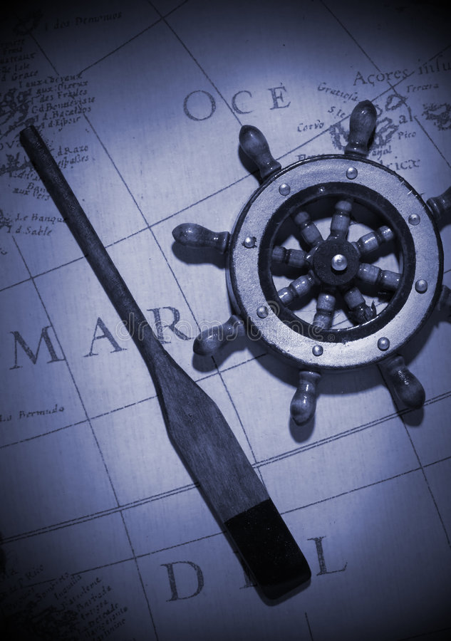 Download Oar and Wheel stock photo. Image of nautical, vintage - 2062284