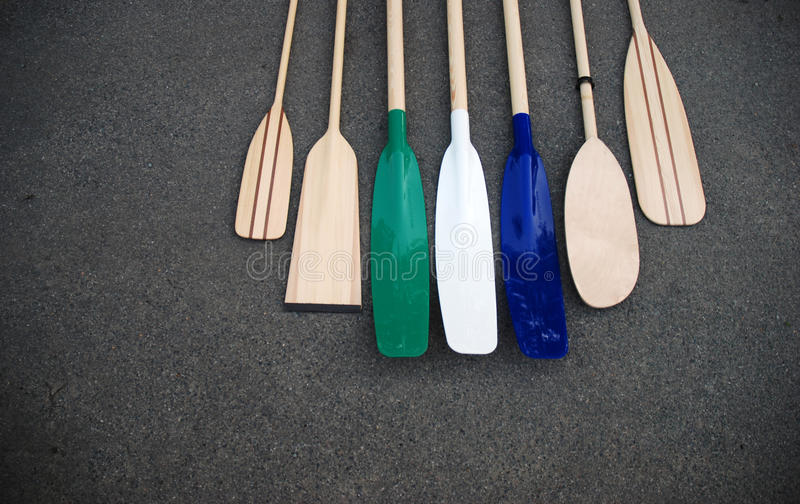 Oars royalty free stock images