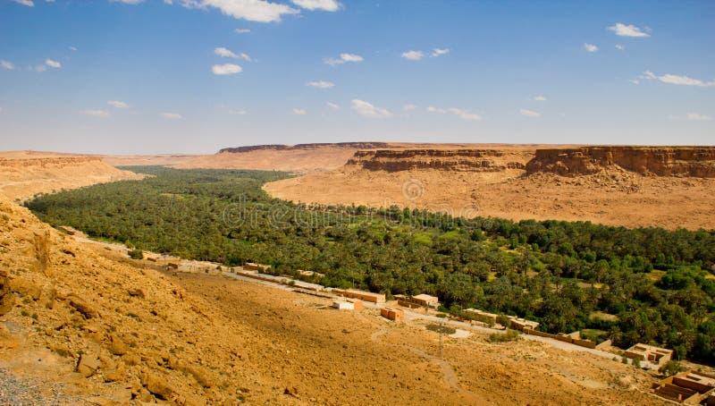 Oase em Marrocos fotos de stock