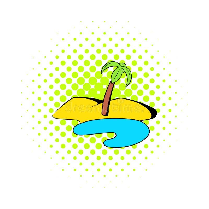 Oasen i ökensymbolen, komiker utformar stock illustrationer
