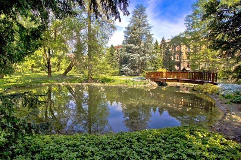 Oasi botanica di città giardino di Zagabria immagine stock