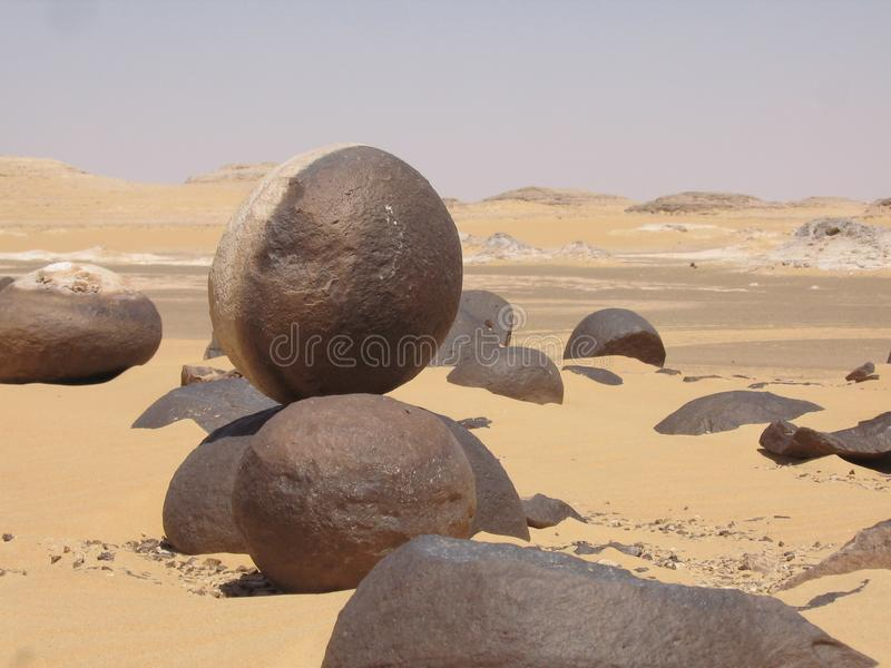 Oasi dell'Egitto - deserto dell'Egitto immagine stock libera da diritti