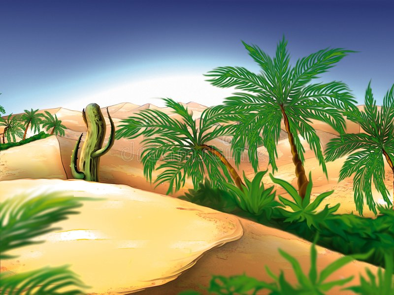 Oasis illustration stock