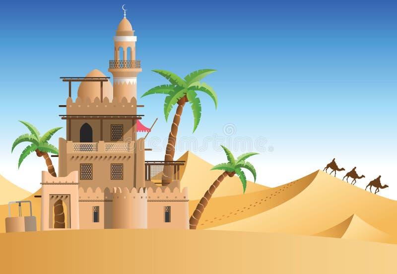 oasis ilustração royalty free