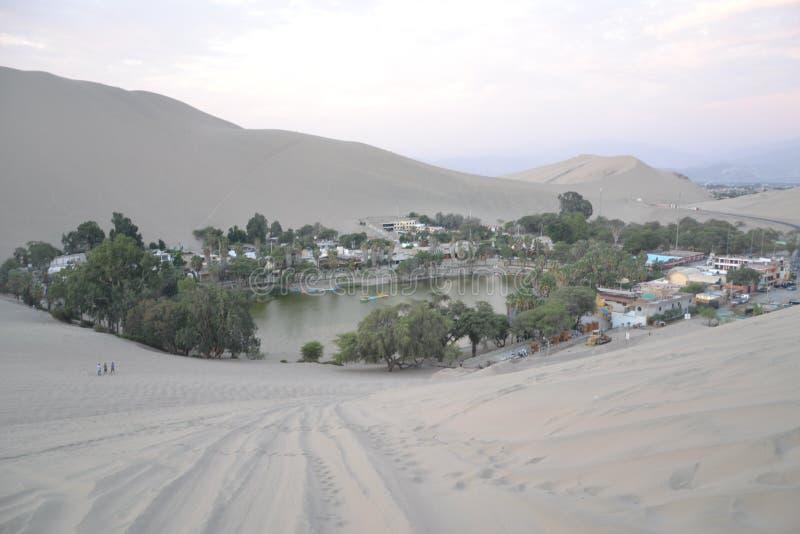 Oasis au Pérou photo libre de droits