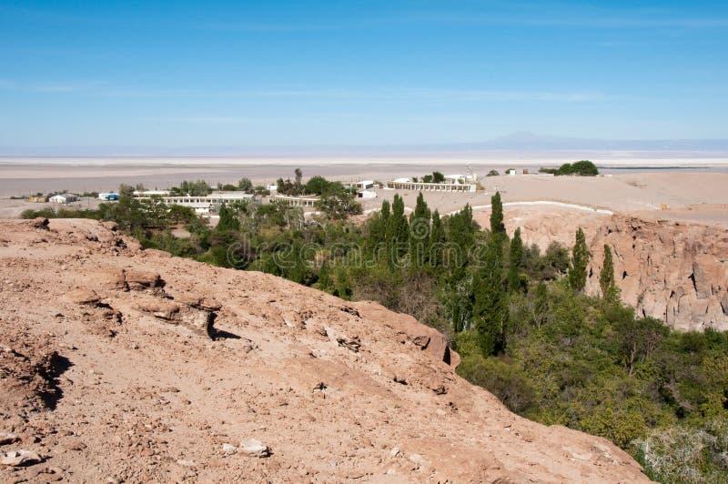 Oasis de Jerez, Toconao (Chile) imagen de archivo libre de regalías