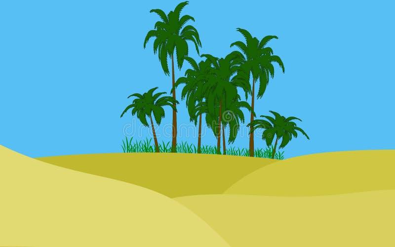 Oasis en desierto foto de archivo