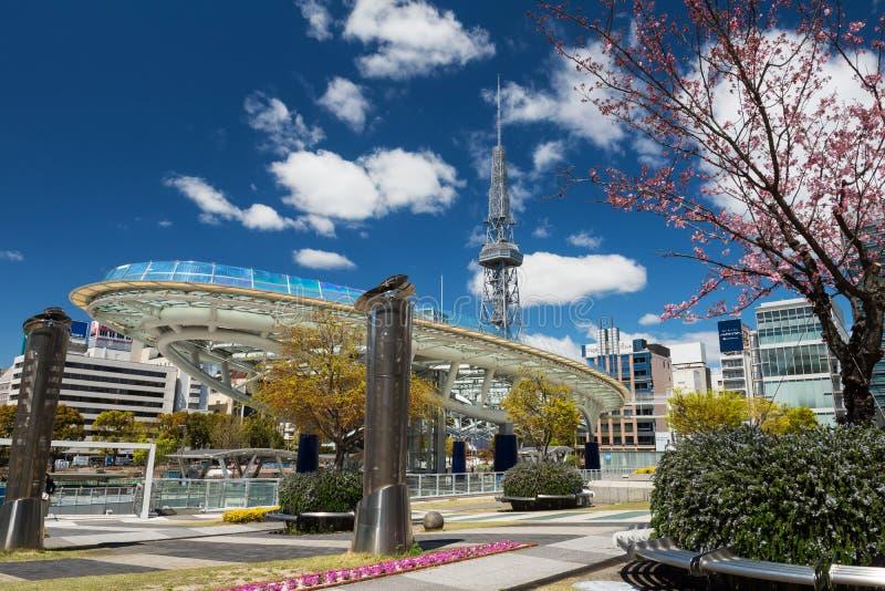 Oasis21 et tour de TV au ressort à Nagoya photos libres de droits
