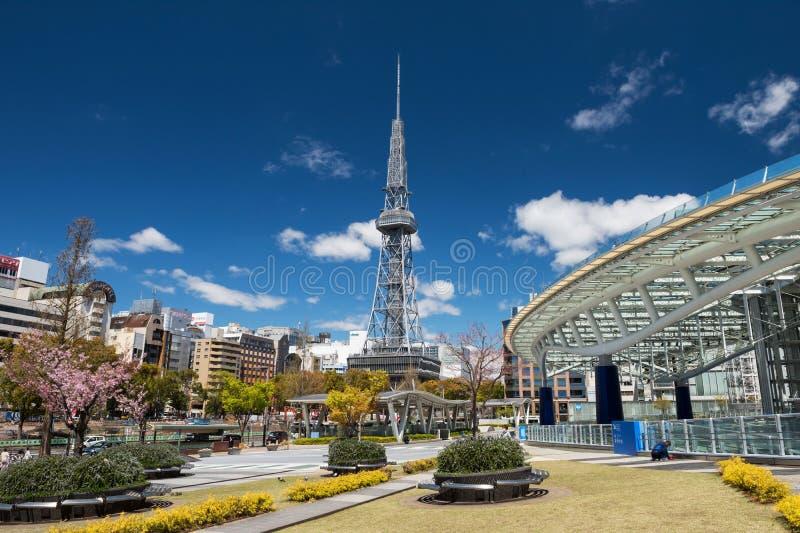 Oasis21 et tour de TV au ressort, Nagoya image stock