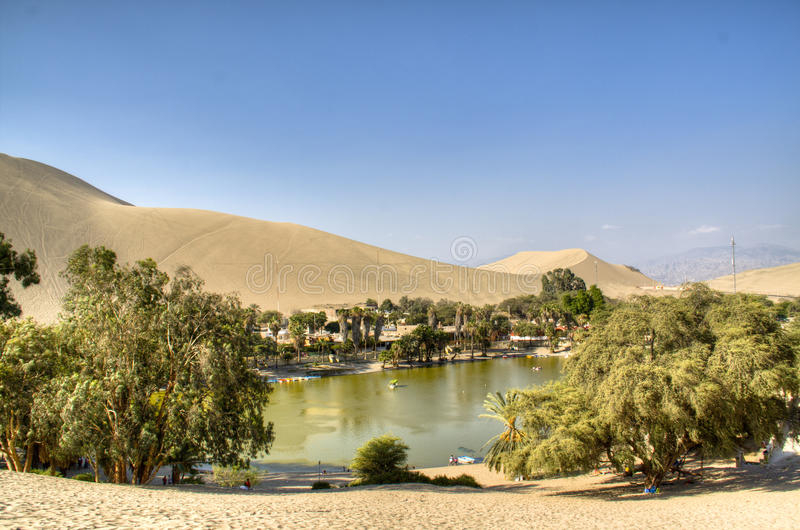 Oasis in Huacachina royalty free stock photos