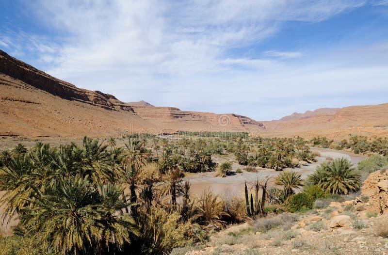 Oasis marroquí imagenes de archivo