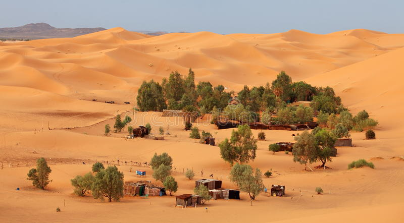 oasis Sahara photographie stock