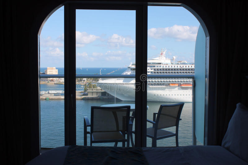 Oasis Of The Seas Cruise Ship Balcony Stock Photos