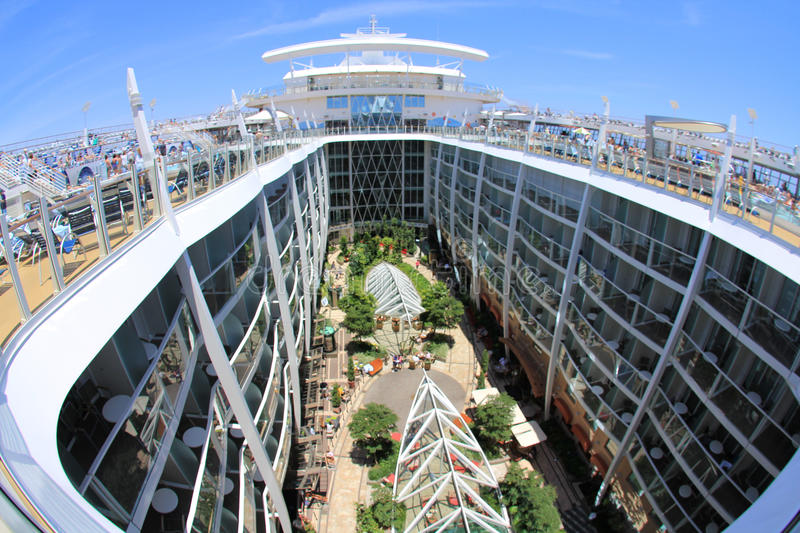 Oasis Of The Seas. FORT LAUDERDALE, USA, MAY 11: Royal Caribbean, Oasis of the Seas sailing from Fort Lauderdale, USA on May 11 2011. The second largest stock photography