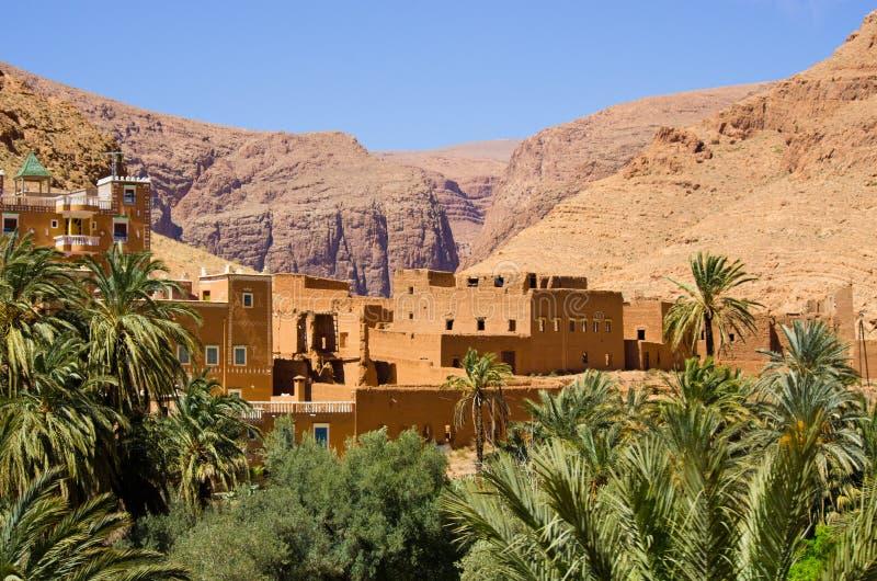 Oasis verde en Marruecos fotos de archivo libres de regalías