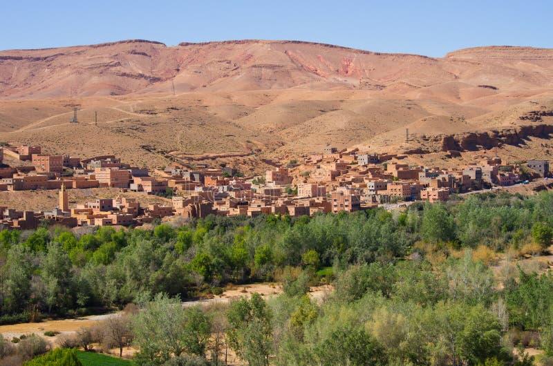 Oasis verde en Marruecos foto de archivo libre de regalías