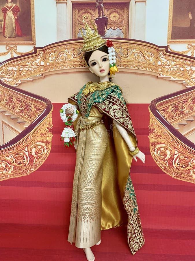 oasisdoll, Kugelgelenkpuppe, thailändischer Tanz, YAOYUE, Lenkrad lizenzfreies stockbild