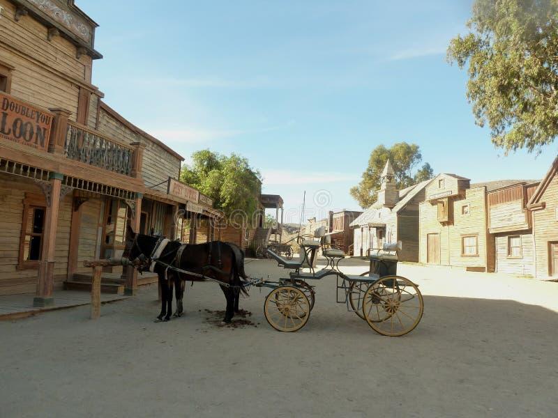 Oasys微型好莱坞在西班牙-一个摄制的地点,狂放的西部主题乐园 库存图片