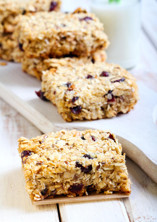 Oat bars stock photography