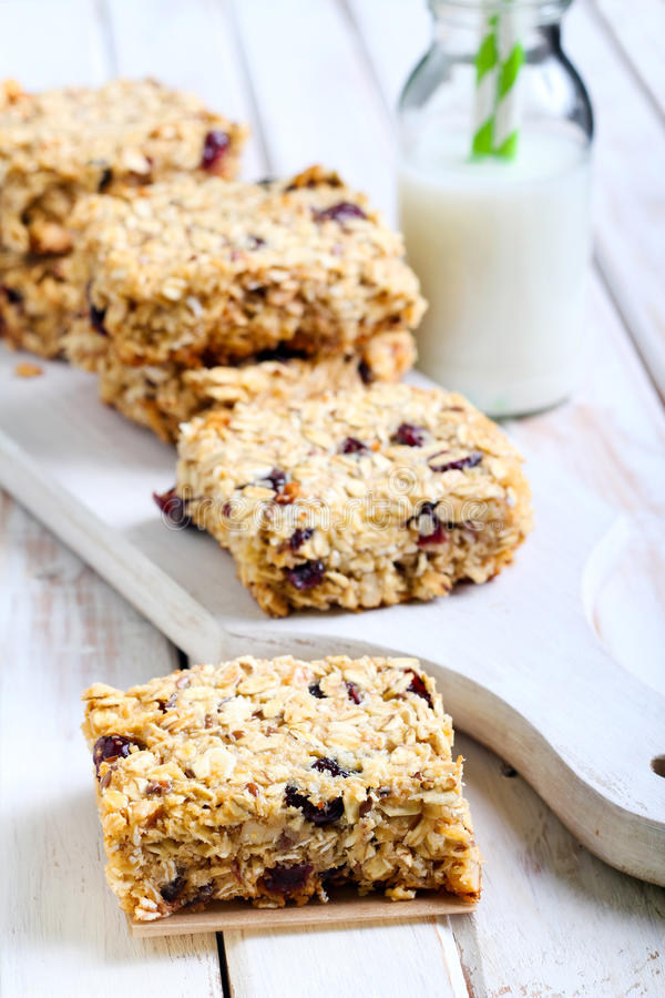 Oat bars seeds royalty free stock image